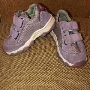 Baby Naturino Lavender Leather & Canvas sneakers